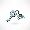 Autoschlüssel Grunge-Ikone