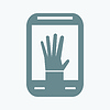 Smartphone mit Hand-Symbol