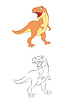 Tyrannosaurus | Stock Vektrografik