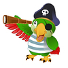 Pirate Parrot | Stock Vector Graphics