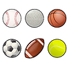 Ball icons | Stock Vector Graphics