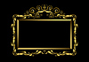 Luxury gold frame on black background | Stock Vector Graphics