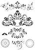 Sammlung von Muster-und Rundrahmen