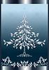 Weihnachten Silber Tanne im Rahmen.