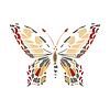 Motyl samodzielnie na białym tle | Stock Vector Graphics