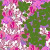 Kolorowe liście i kwiaty - bez szwu | Stock Vector Graphics