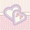 Liebes-Grußkarte mit zwei Herzen, Vektor-Illustration