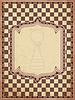Weinlese-Schach-Karte, Vektor-Illustration