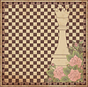 Weinlese-Schachkönigin Hintergrund, Vektor-Illustration