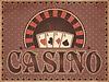 Weinlese-Casino-Einladungskarte, Vektor-Illustration