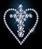 Diamanten Kreuz und Herz, Vektor-Illustration