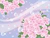 abstrakter Hintergrund mit Kirschblüten-, Vektor-