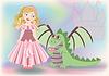 Nette kleine Prinzessin und Drache, Happy St. George.