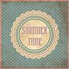 Sommerzeit-Karte im Vintage-Stil, Vektor-Illustration