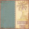 Sommerzeit Scrapbooking Hintergrund im Vintage-Stil,
