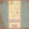 Sommerzeit Schrottkarte im Vintage-Stil, Vektor