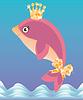 Schöne kleine Delfin, Vektor-Illustration