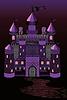 Alte Hexe Schloss, Vektor-Illustration