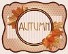 Alte Karte Herbst mit Eicheln und Eichenblätter, Vektor