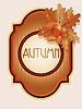 Weinlese-Herbst-Karte mit Eicheln und Eichenblätter, Vektor