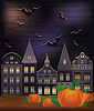 Happy Halloween Wallpaper, Vektor-Illustration
