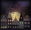 Happy Halloween-Nacht-Hintergrund, Vektor-Illustration