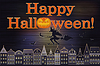 Happy Halloween Postkarte, Vektor-Illustration
