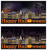 Happy Halloween Banner, Vektor-Illustration