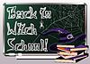Zurück zu Hexenschule. Einladungskarte, Vektor