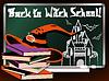 Zurück zu Hexenschule. Magische Karte, Vektor-Illustration