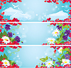 Set Valentine `s Day horizontale Banner mit Red