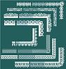Elementos Frame Set - diferentes bordes de encaje y | Ilustración vectorial