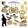 Satz von verschiedenen Bäckerei - Brot, Kuchen, Kekse,