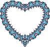Jahrgang ornamentalen Herzform. Valentines Day