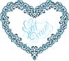 Jahrgang ornamentalen Herzform mit kalligraphischen