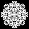 Patrón de encaje abstracto del círculo | Ilustración vectorial