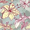 Diseño floral transparente con flores - tigre lilly | Ilustración vectorial