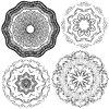 Conjunto de fondos de la vendimia, Guilloche ornamental | Ilustración vectorial