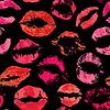 Nahtlose Muster mit schönen roten Lippen Drucke auf