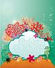 Marco y Coral Reef y Vida marina - Underwater | Ilustración vectorial