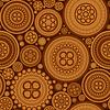 Nahtlose Muster mit braun gepunkteten Kreisen -