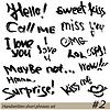 Satz von Hand geschrieben kurze Sätze hallo, KISS ME,