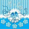 Ferien Dard Kinder gumshoes auf blauem Hintergrund