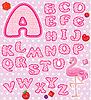 ABC - Childish Alphabet - Buchstaben aus rosa