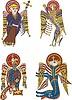 Celtyckie symbole czterech ewangelistów | Stock Vector Graphics