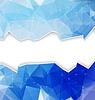 Blau polygonalen Mosaik mit Kopie Raum | Stock Vektrografik