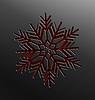 Weihnachten Schneeflocke Schnitt von Papier