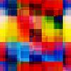 무지개 픽셀 원활한 패턴을 흐리게 | Stock Vector Graphics