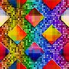 Regenbogen farbige Rechtecke auf farbigen Regenbogen mosai | Stock Vektrografik