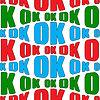 Бесшовные абстрактный фон с повторяющимися текст ОК | Векторный клипарт